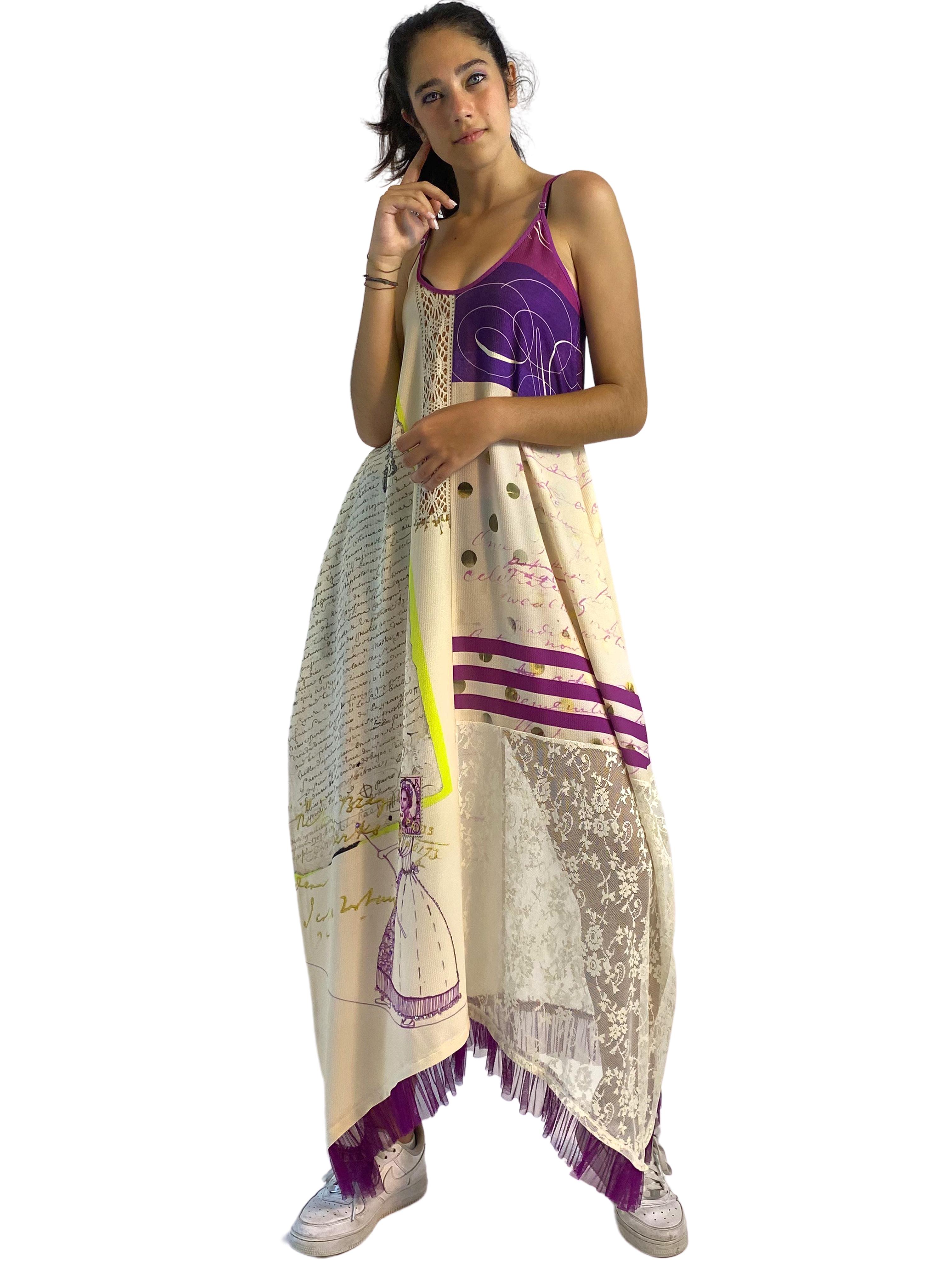 IPNG: If I Was Dancing In Paris Illusion V-Cut Maxi Dress IPNG_IIFDVN-003