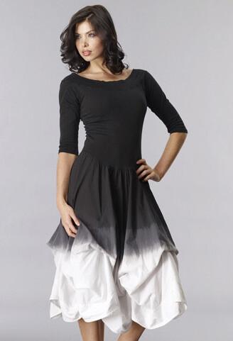 Ties Up or down Size L NEW Luna Luz Black Cotton Dress