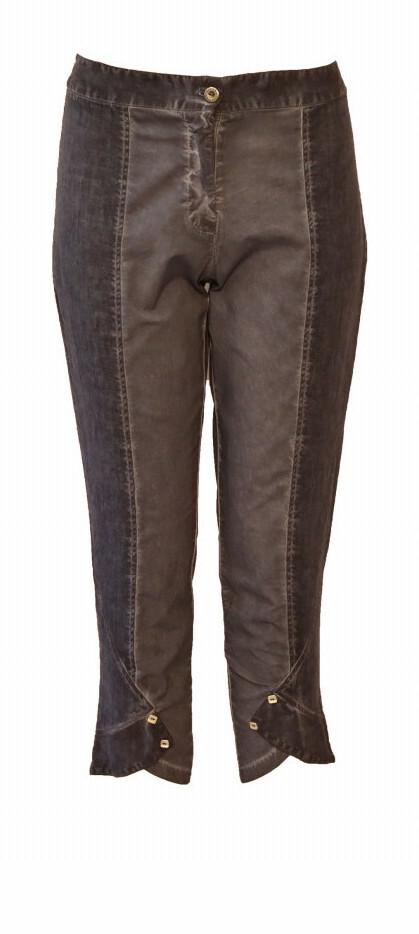 Maloka: Shades of Blue Linen Cropped Pant