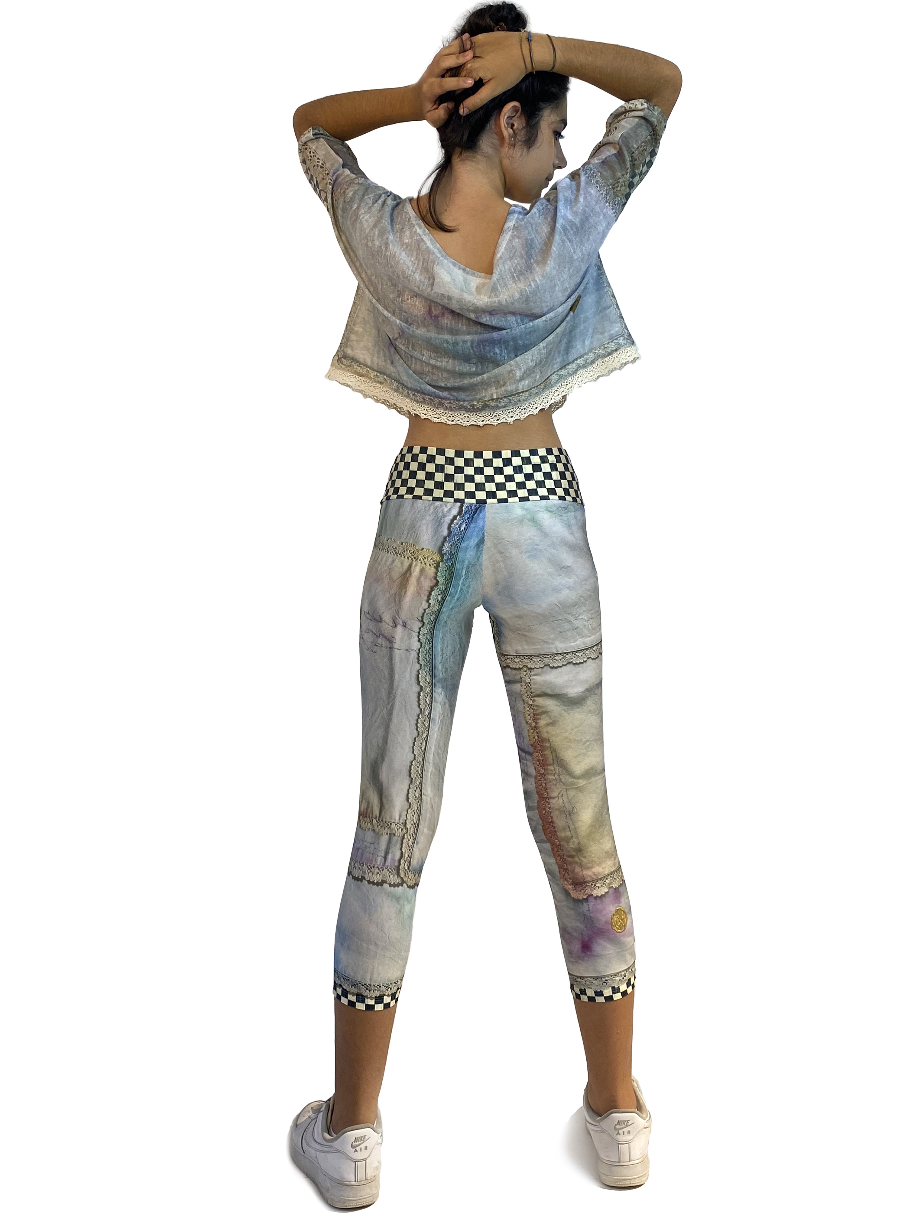 IPNG: Never Enough Color Orchid Illusion High-Waisted Crop Legging (Some Ship Immed!)