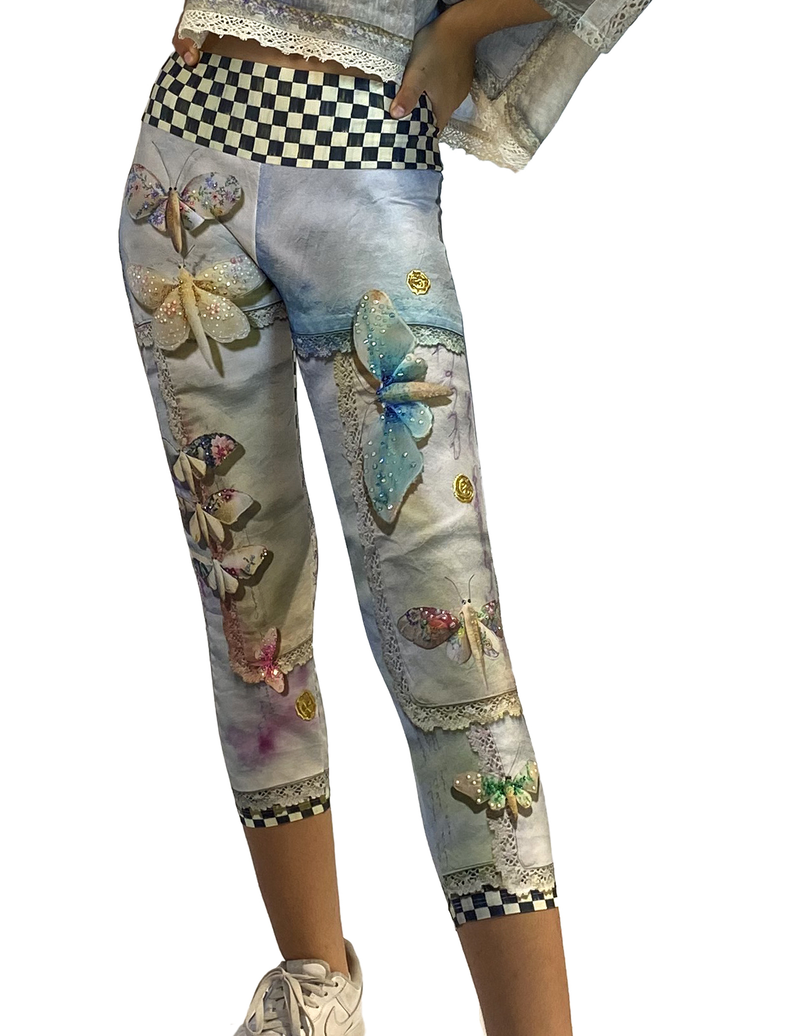IPNG: Never Enough Color Orchid Illusion High-Waisted Crop Legging (Some Ship Immed!) IPNG_NECL-040