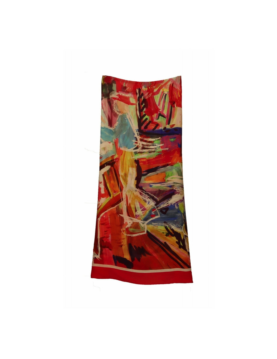 Maloka: Shimmering Colors Of MontMartre Abstract Art Scarf