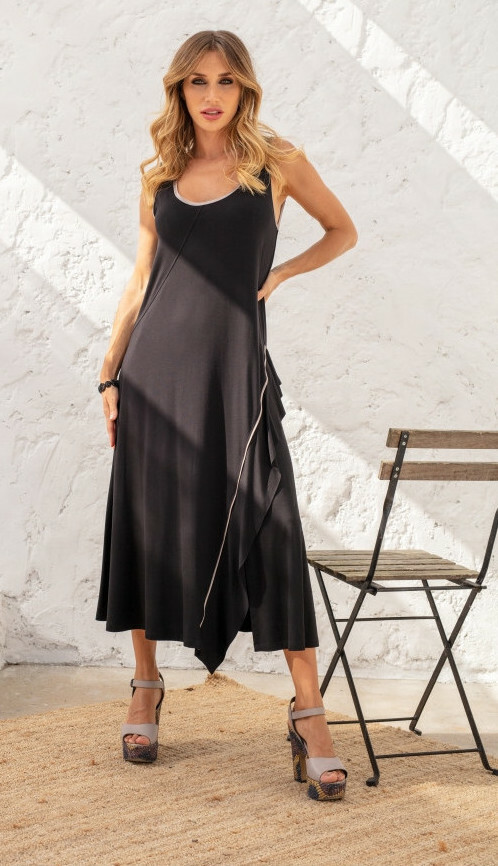 Maloka: Bewitchingly Comfortable Fringed Maxi Dress (Many Colors!) MK_LERIN