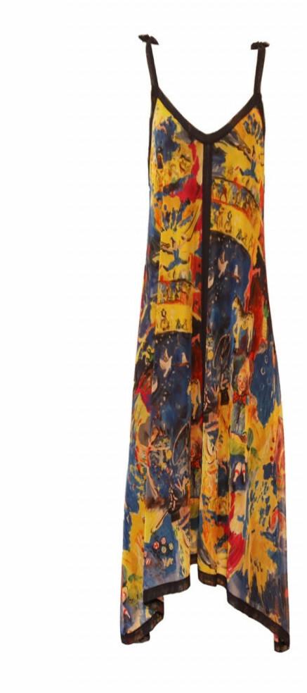 Maloka: Circus Fantasy Art Midi Sundress (converts to beach dress with adjustable lengths, Few Left!)