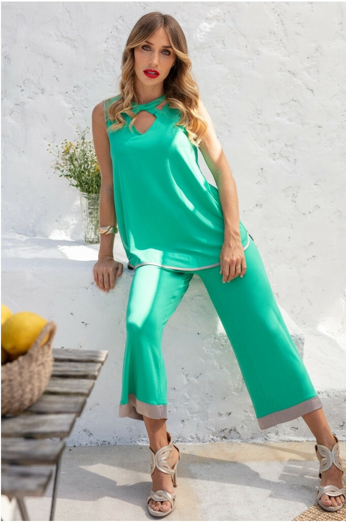Maloka: Bewitchingly Comfortable Contrast Flared Pants (More Colors!)