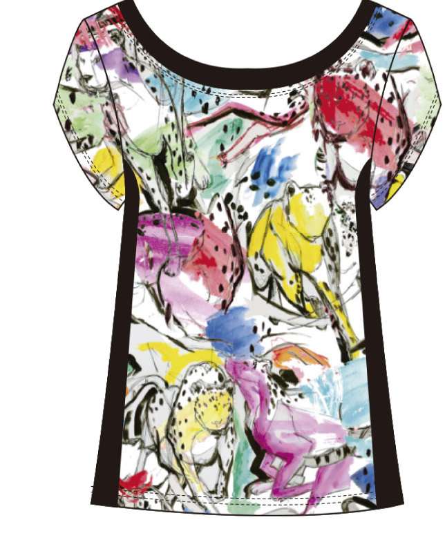 Maloka: Lounging Lioness Painted T-Shirt (1 Left!)