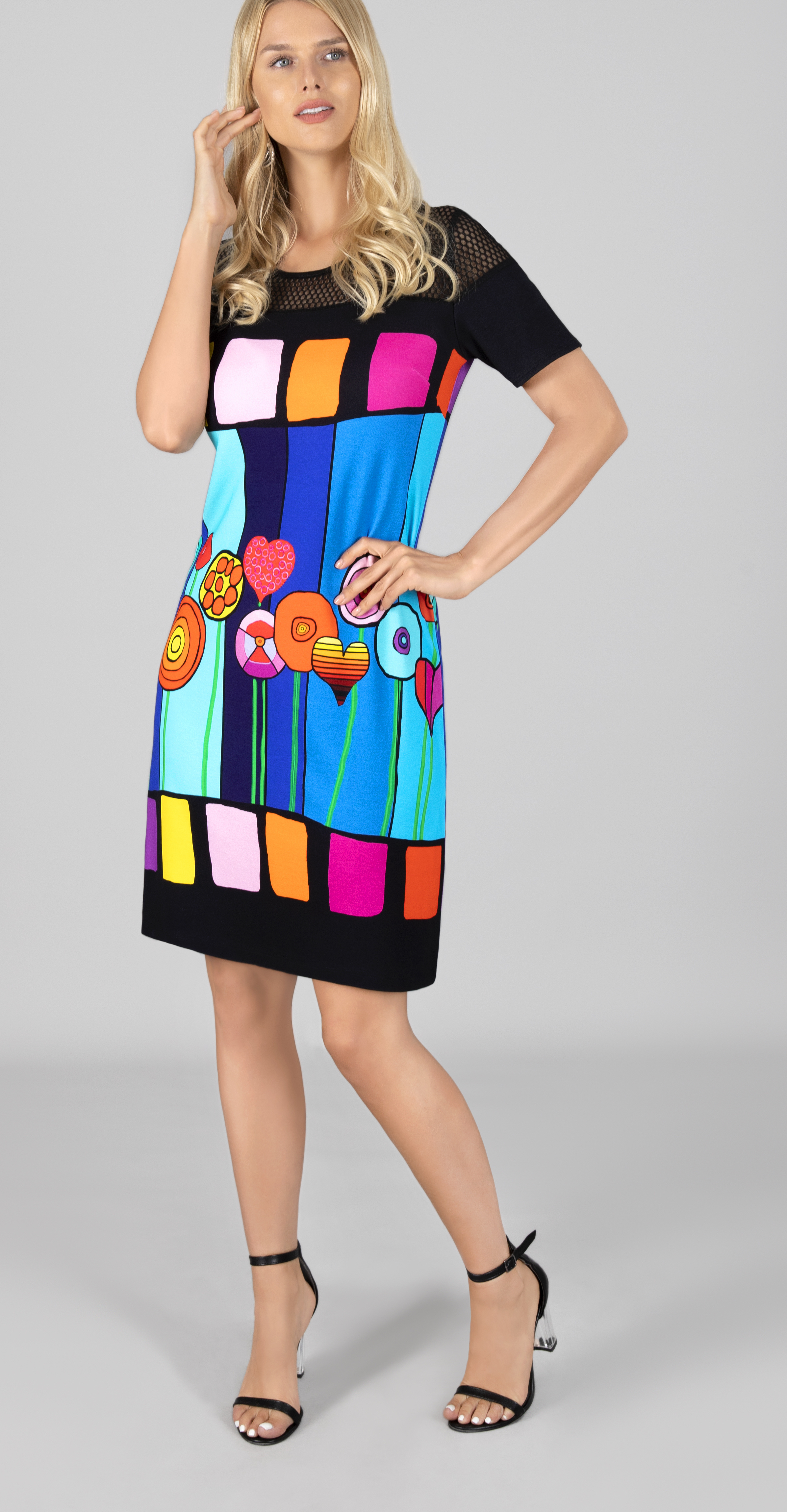 Simply Art Dolcezza: Lollipops Of Happiness Abstract Art Dress Dolcezza_SimplyArt_21609