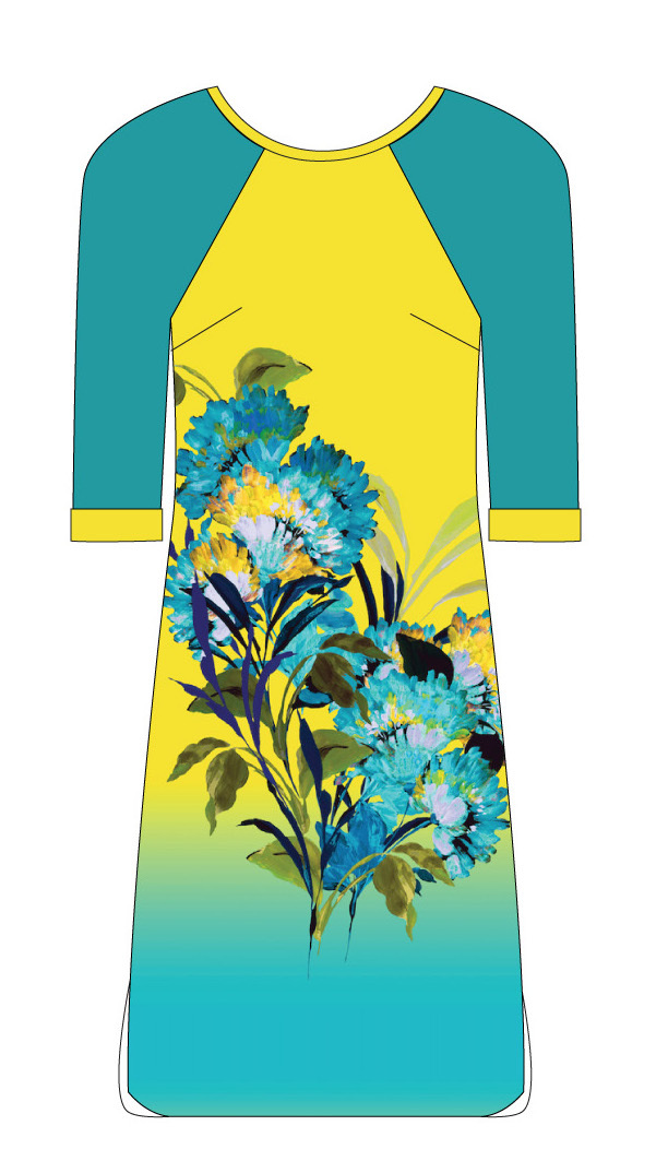 Paul Brial: Exquisite Blooms Of Maldives Flared Dress