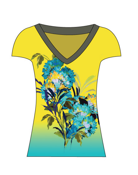 Paul Brial: Exquisite Blooms Of Maldives Flared T-Shirt