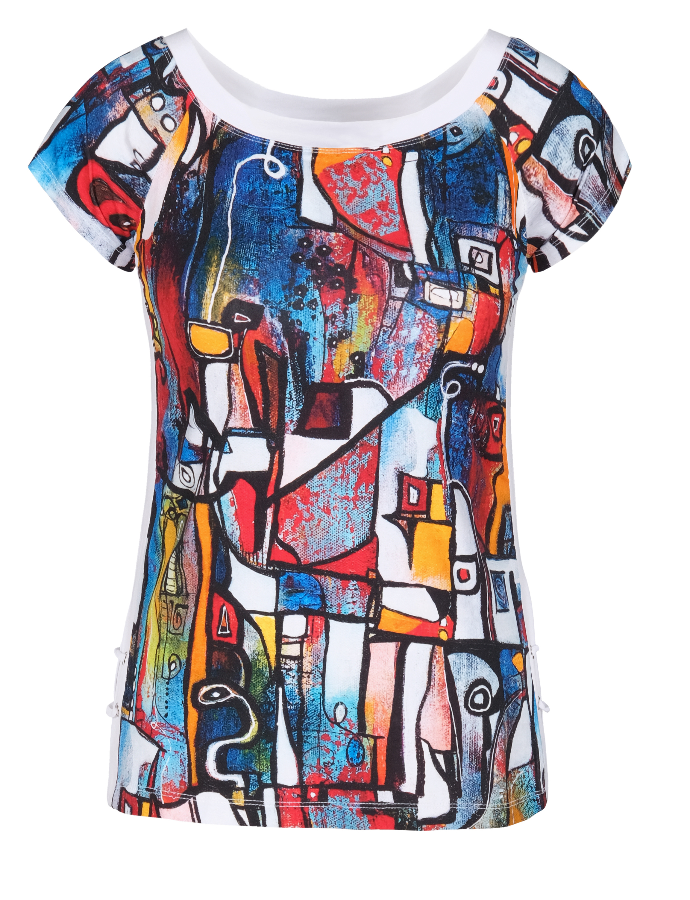 Simply Art Dolcezza: It's Complicated Crazy Cool Abstract Art Portrait Neck Top Dolcezza_SimplyArt_21711