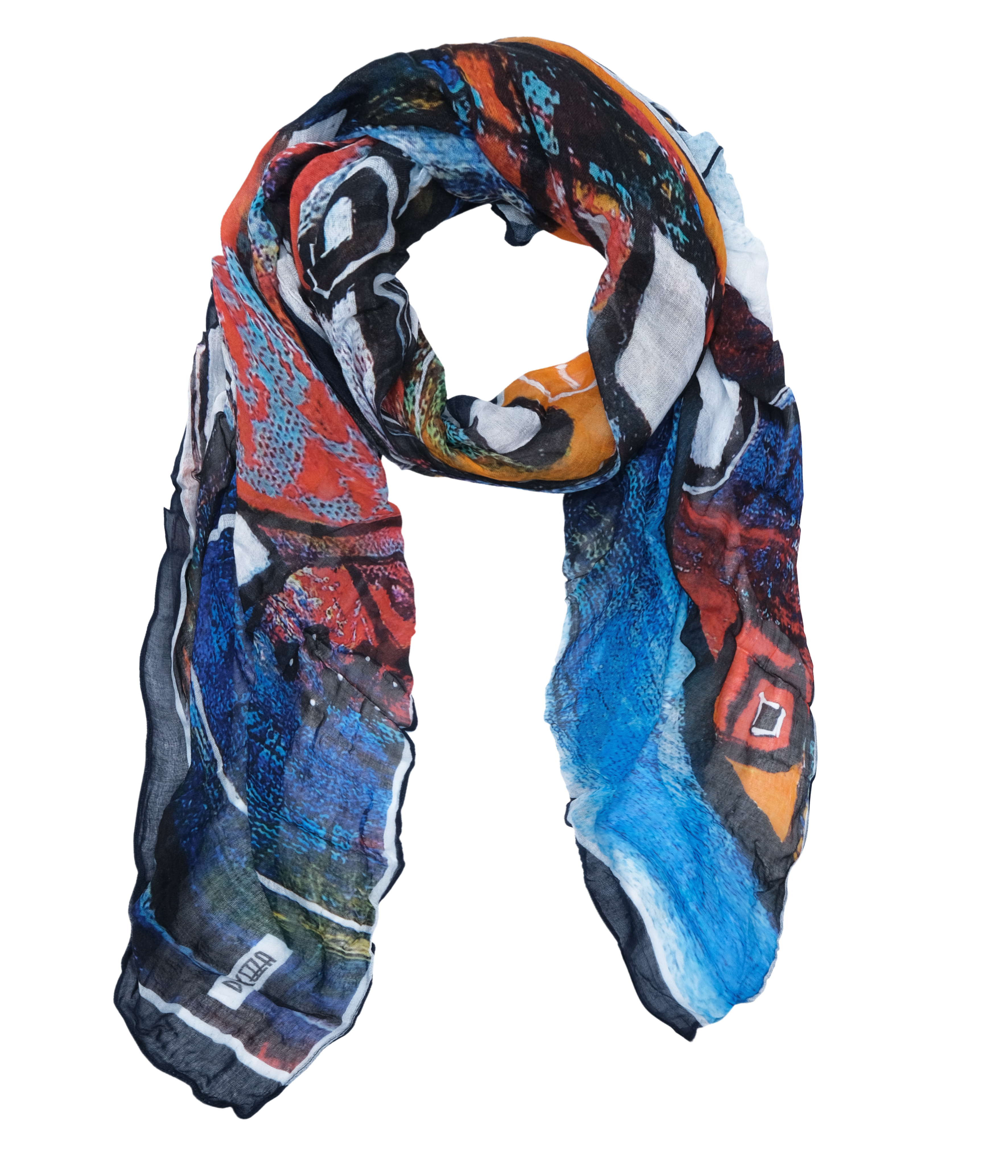 Simply Art Dolcezza: It's Complicated Crazy Cool Abstract Art Scarf (New Spring 2021, 1 Left!)