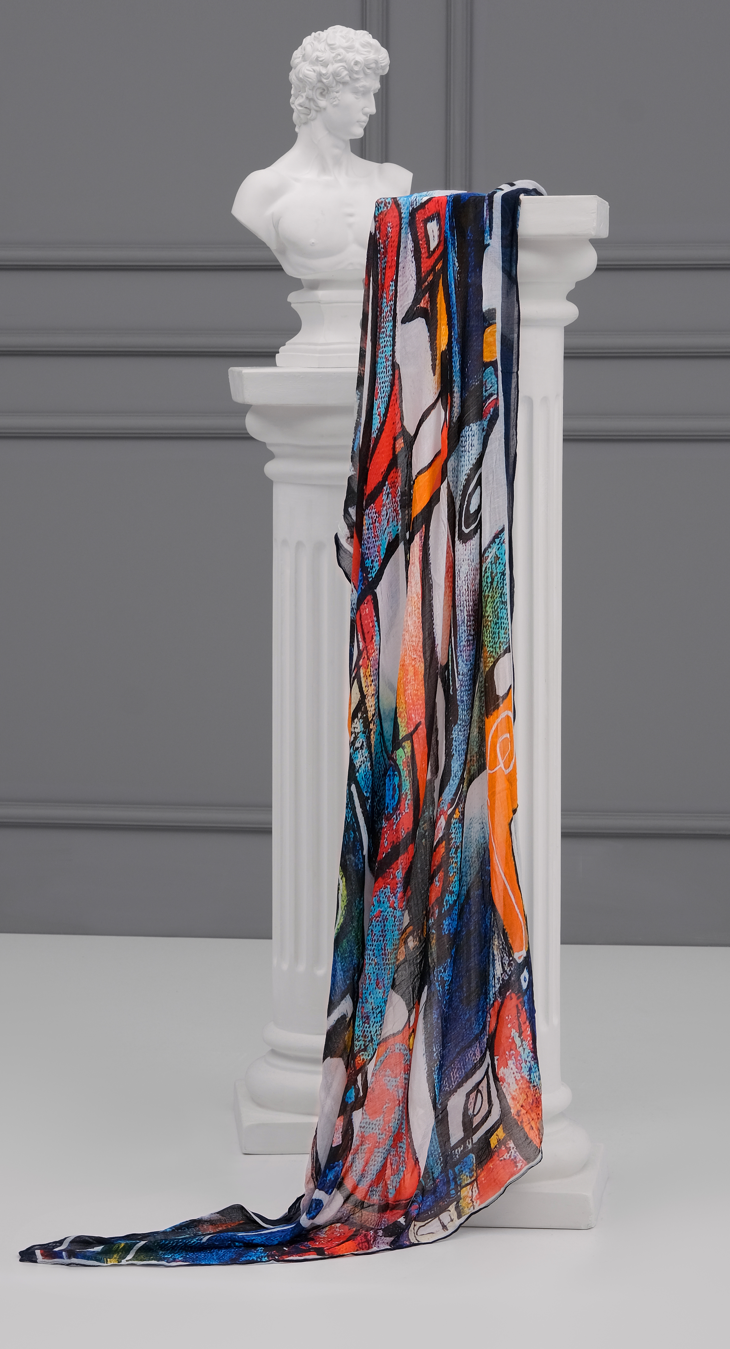 Simply Art Dolcezza: It's Complicated Crazy Cool Abstract Art Scarf (New Spring 2021, 1 Left!) Dolcezza_simplyart_21910