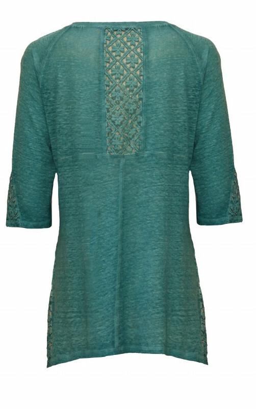 Maloka: Dyed Linen Asymmetrical Tunic (More Colors!)