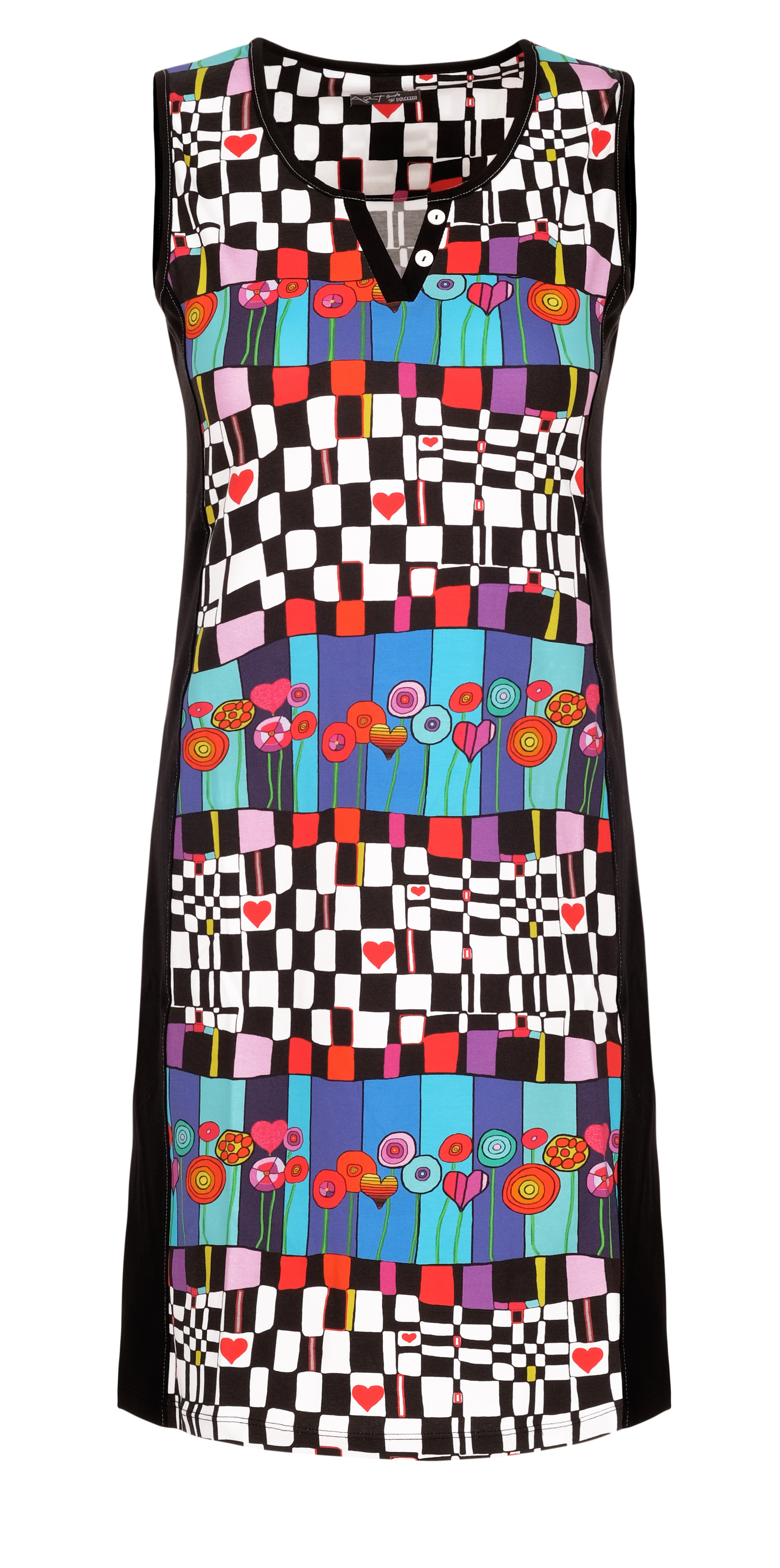 Simply Art Dolcezza: Lollipops Of Happiness Abstract Art Dress/Tunic (2 Left!) Dolcezza_SimplyArt_21610_N