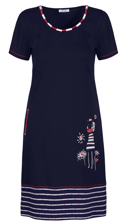 Dolcezza: Humour Me In Navy Art Pocket Dress (Few Left!)