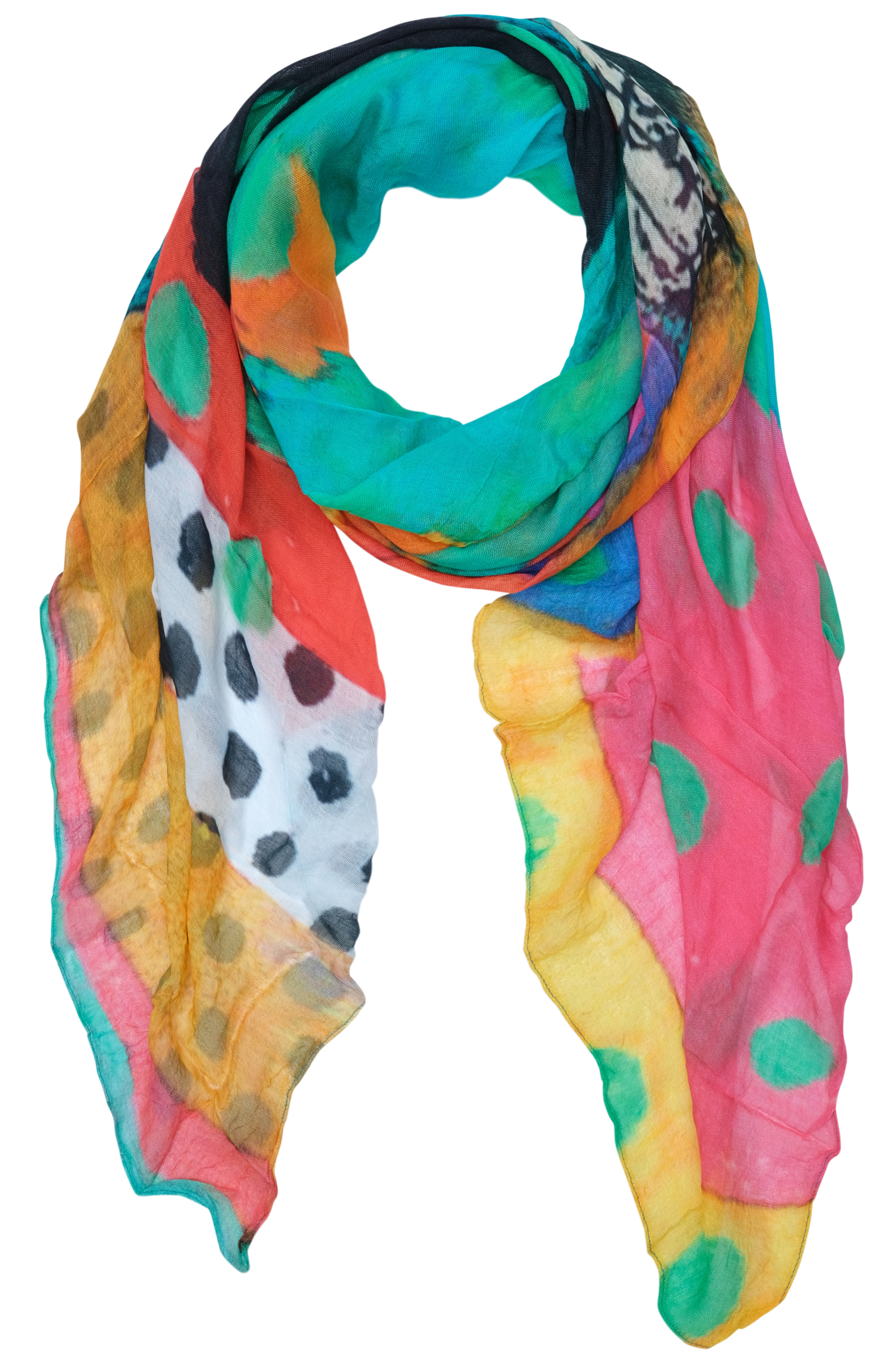 Simply Art Dolcezza: Leisurely Love Stowe In October Abstract Art Scarf (NEW, Spring 2021, 1 Left!)