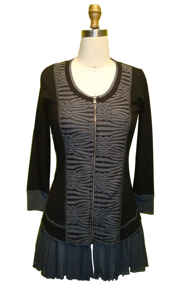 Dzhavael Couture: Zebra Zippered Tunic (1 Left!) DZ_30509