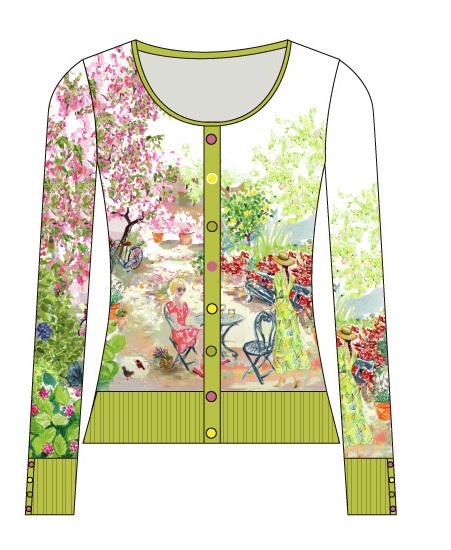Paul Brial: Spring Is In The Air Art Cardigan
