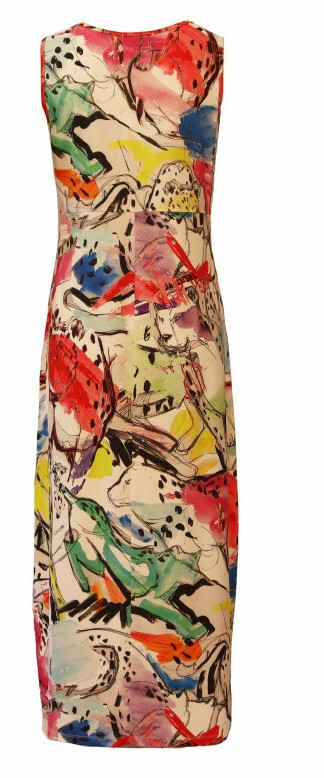 Maloka: Pink Leopard Abstract Art High Waisted Maxi Dress (Few Left!)