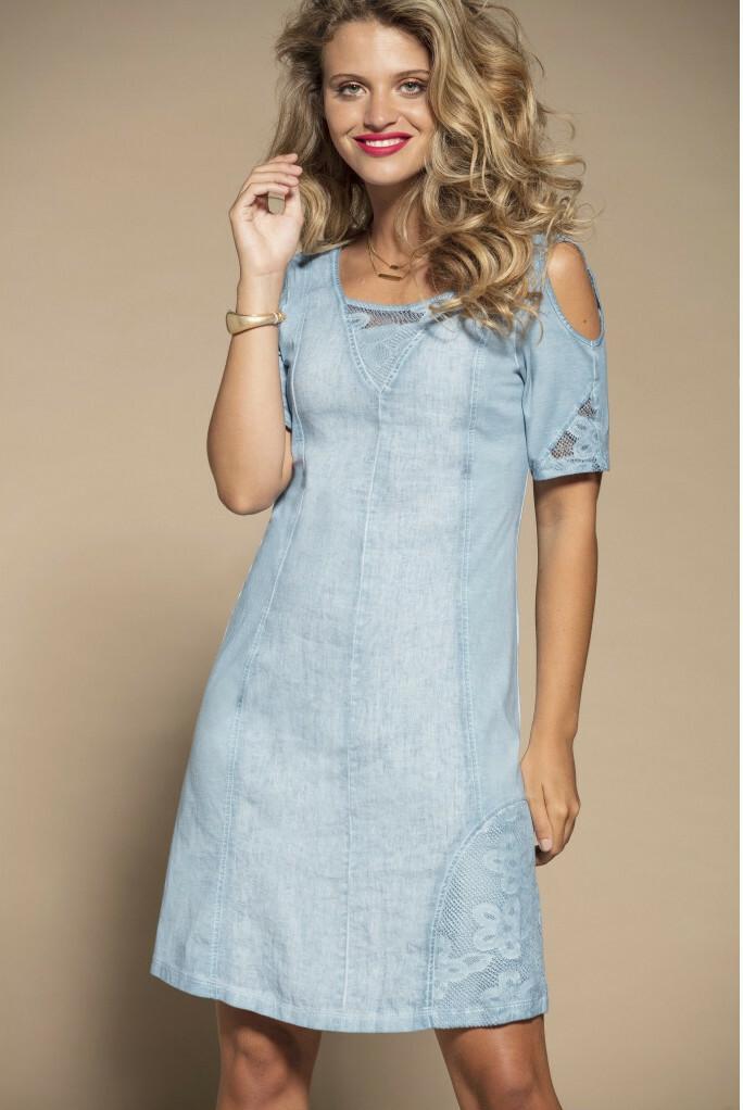 Maloka: Cutout Shoulder Princess Seam Linen Stretch Dress MK_TALLIA