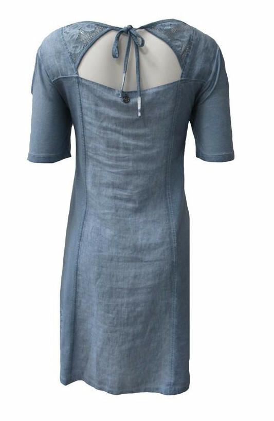 Maloka: Cutout Shoulder Princess Seam Linen Stretch Dress
