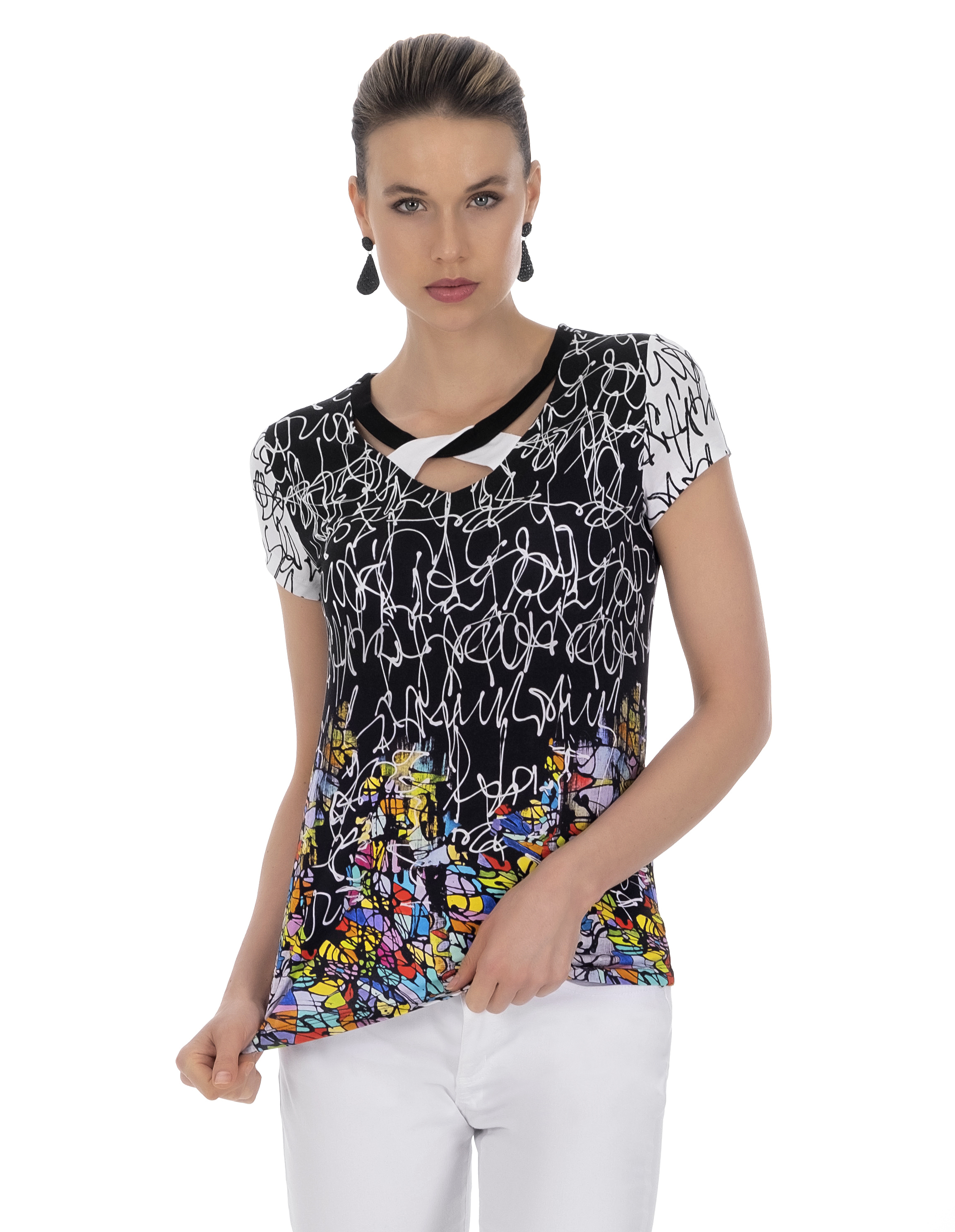 Simply Art Dolcezza: Black Board Abstract Art T-Shirt (2 Left!) Dolcezza_SimplyArt_21642