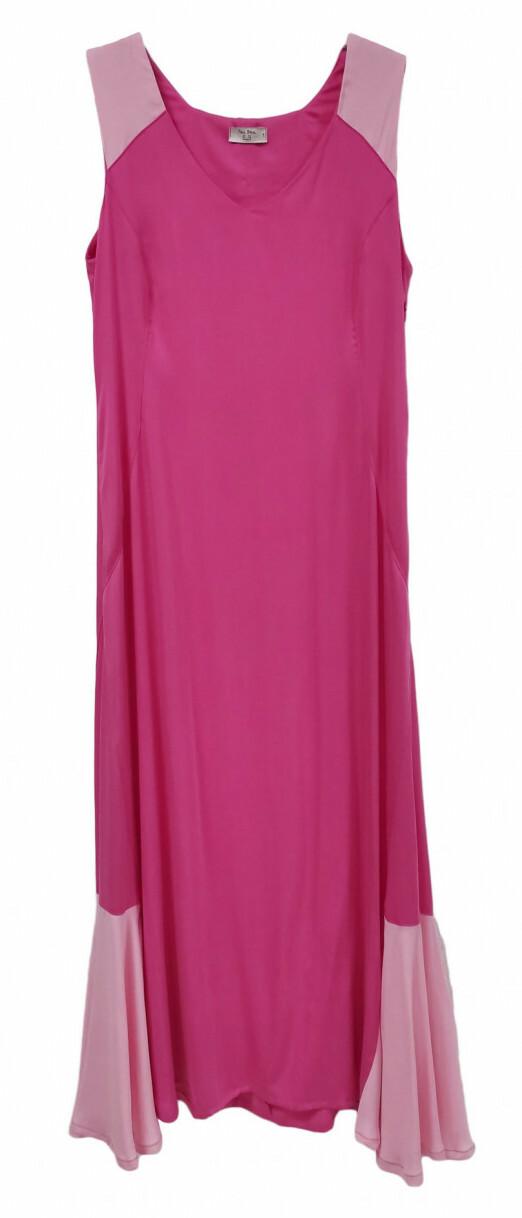 Paul Brial: Pink Souffle Colorblock Organic Cotton Maxi Dress (1 Left!)