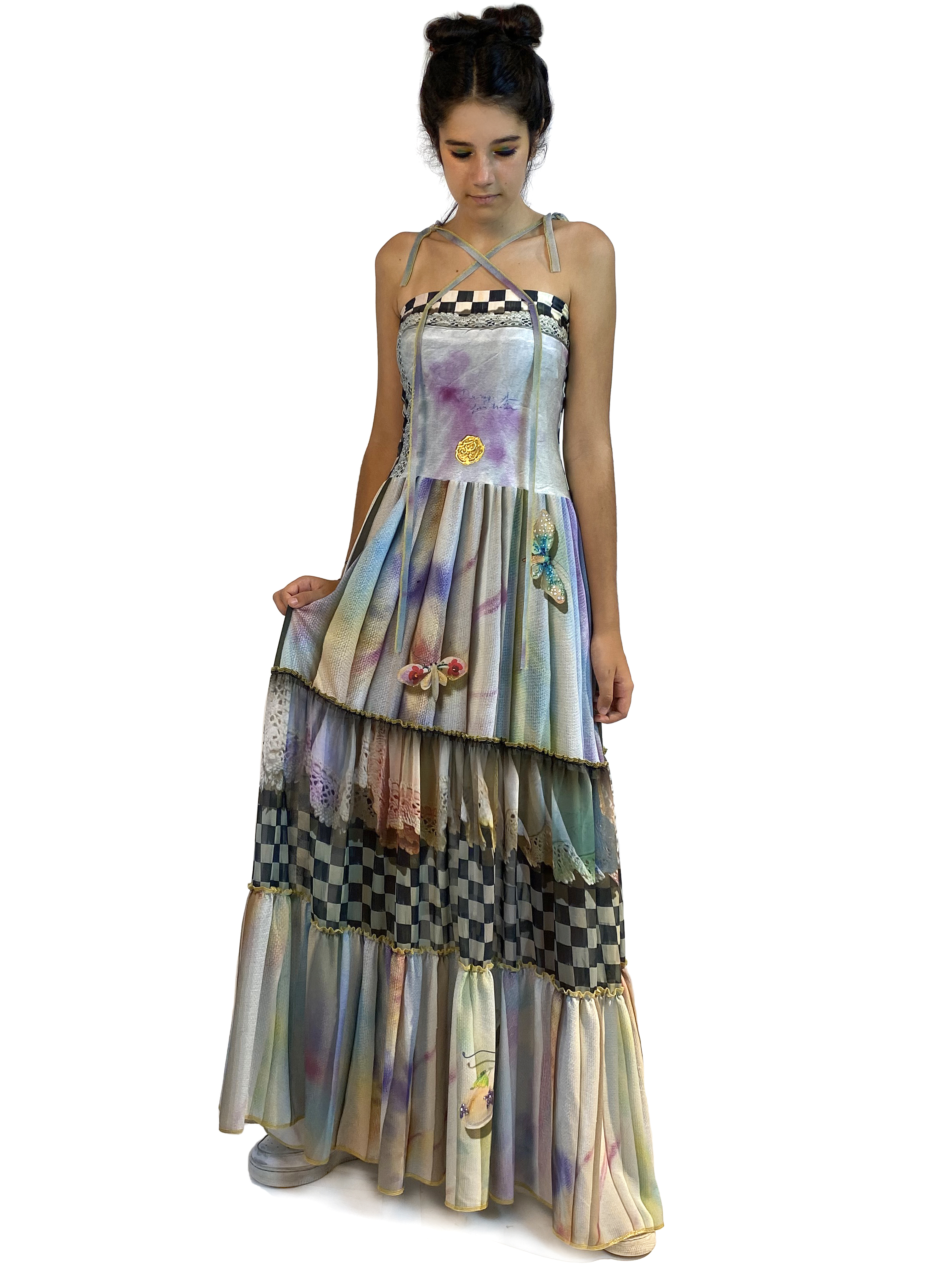 IPNG: Never Enough Color Orchid Illusion Convertible Dress To Skirt