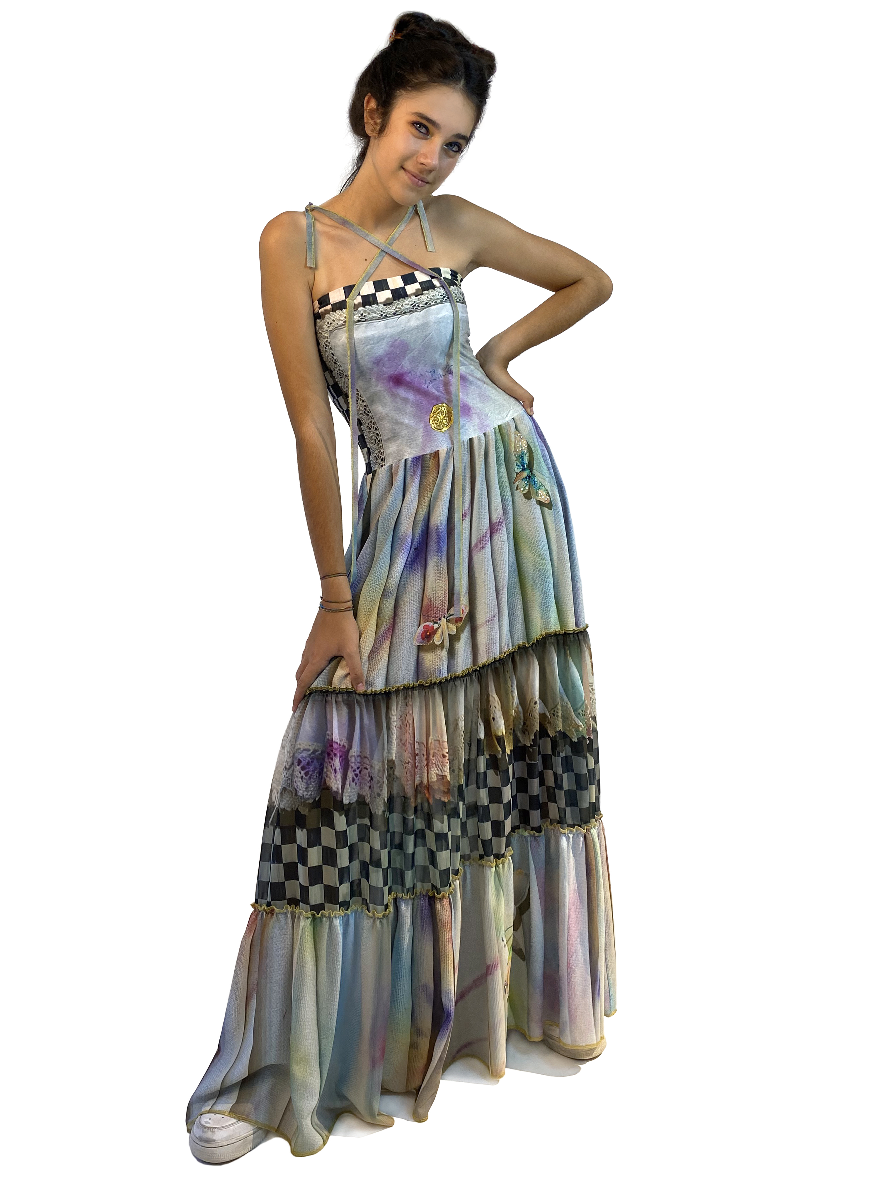 IPNG: Never Enough Color Orchid Illusion Convertible Dress To Skirt IPNG_NECDSKL-029