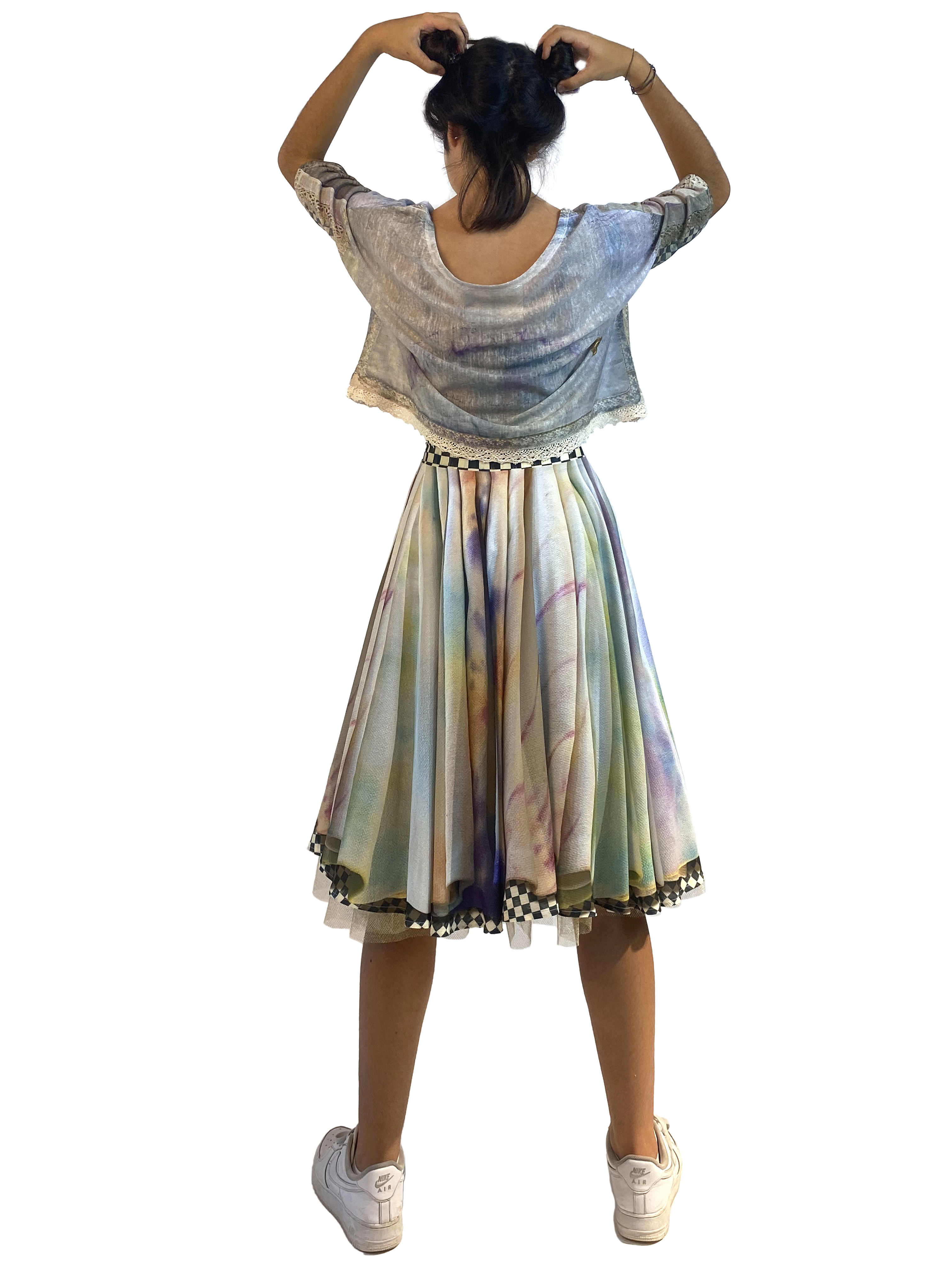 IPNG: Never Enough Color Orchid Illusion Midi Skirt