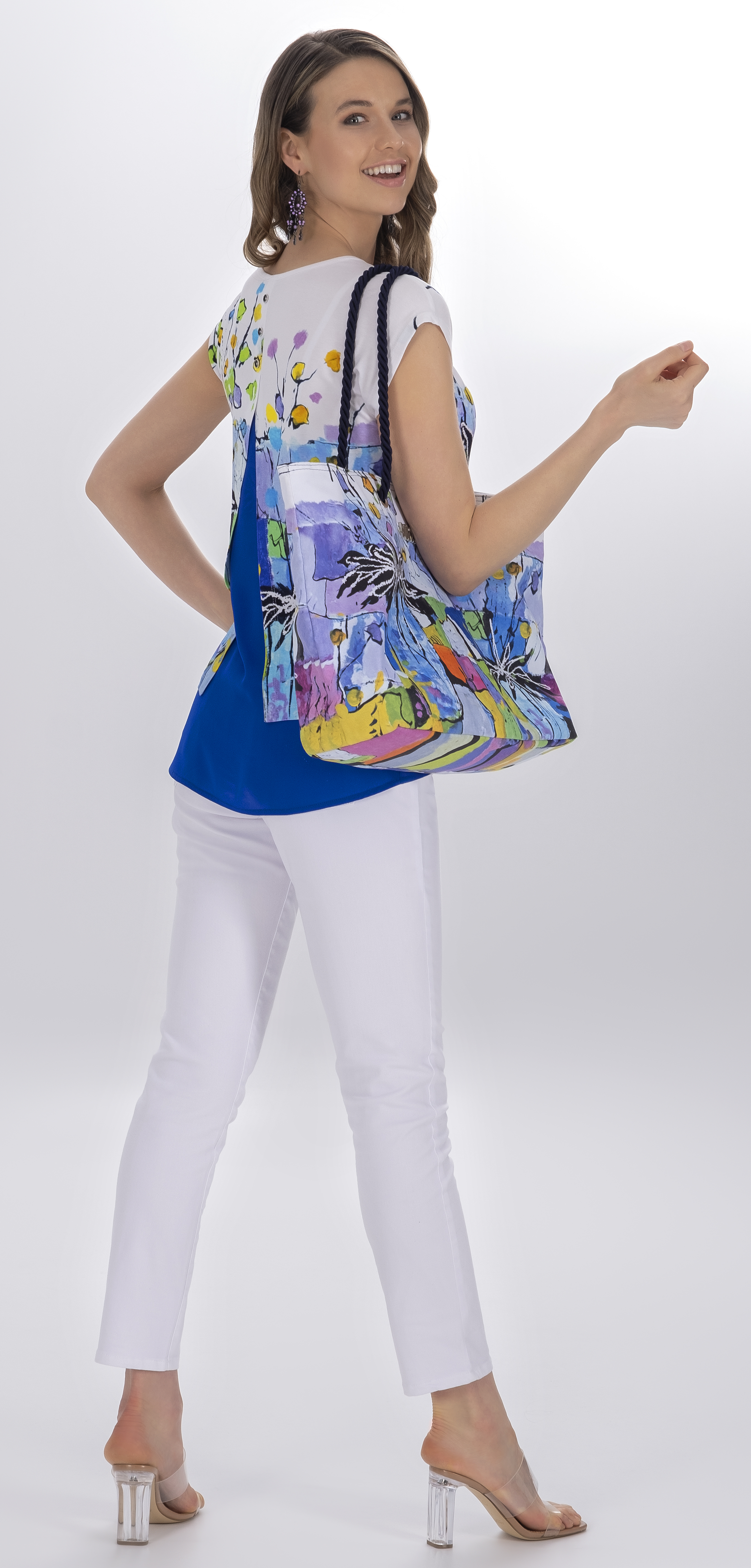 Simply Art Dolcezza: Still Life For A Wedding Party High Low Abstract Art Top (2 Left!)