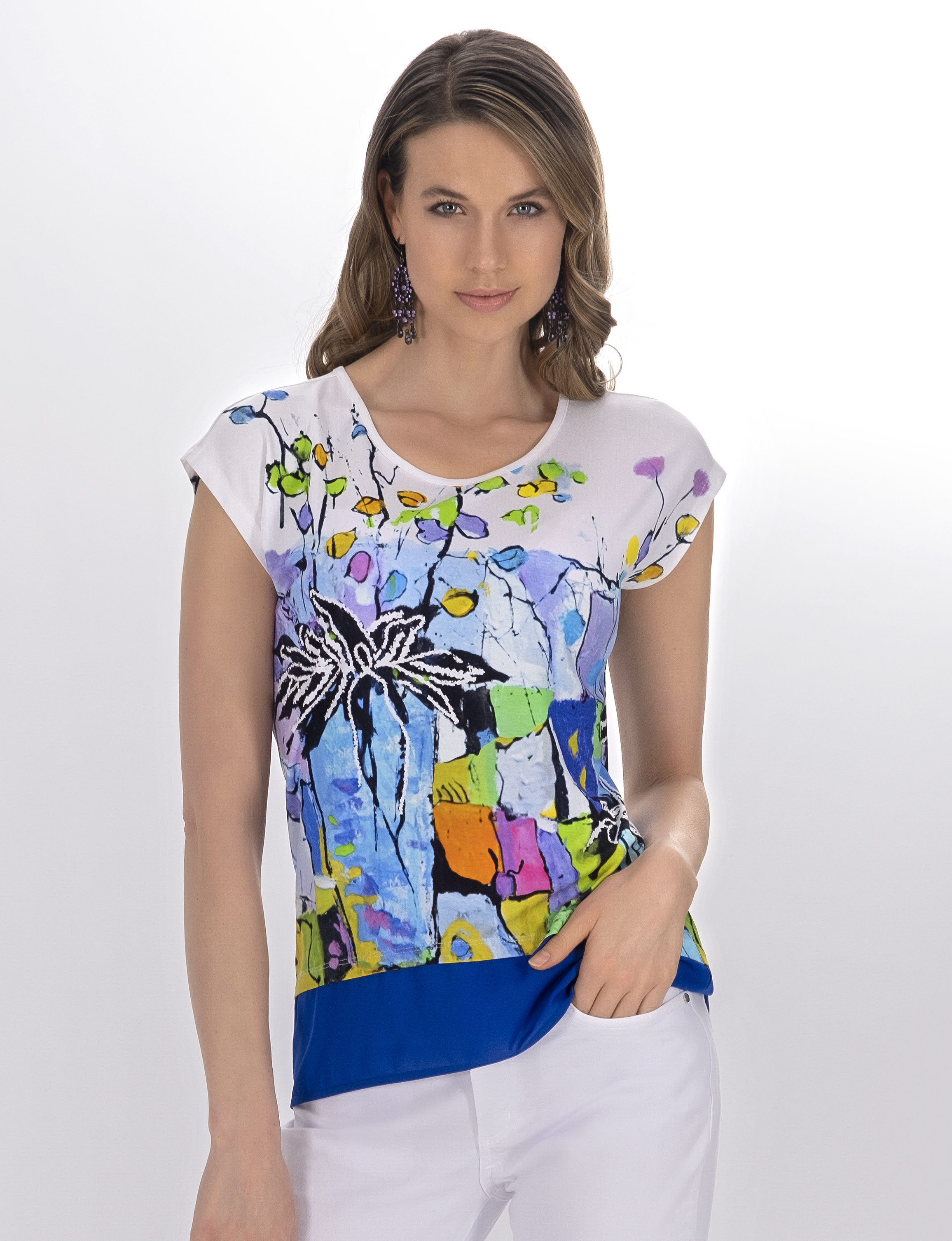 Simply Art Dolcezza: Still Life For A Wedding Party High Low Abstract Art Top (2 Left!) DOLCEZZA_SIMPLYART_21661