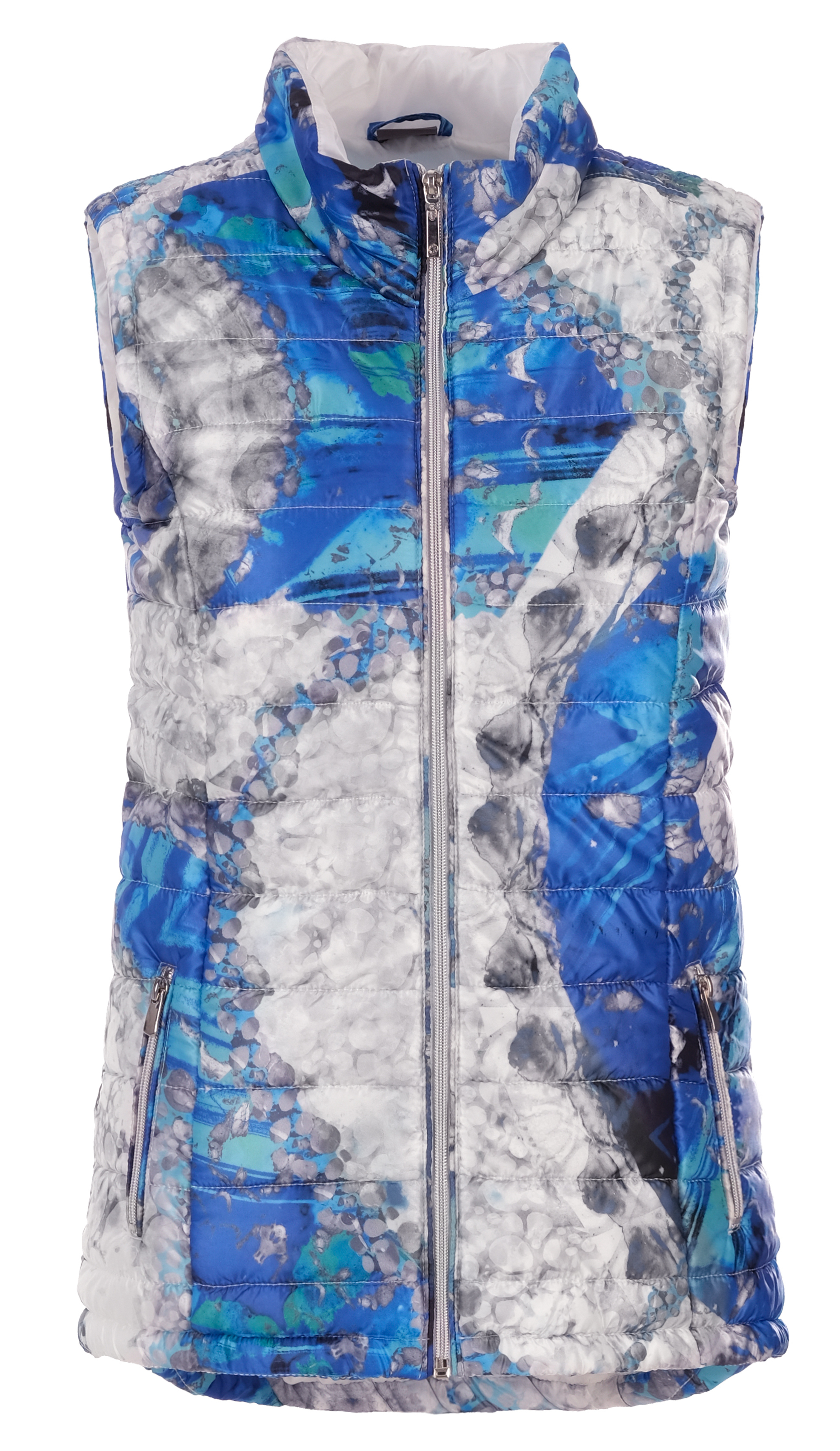 Simply Art Dolcezza: Blue & White Yin Yang High Low Vest (1 Left!) Dolcezza_SimplyArt_21802