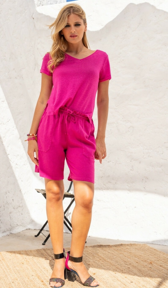 Maloka: Paper Bag Linen Shorts (More Colors!) MK_SARIE_N