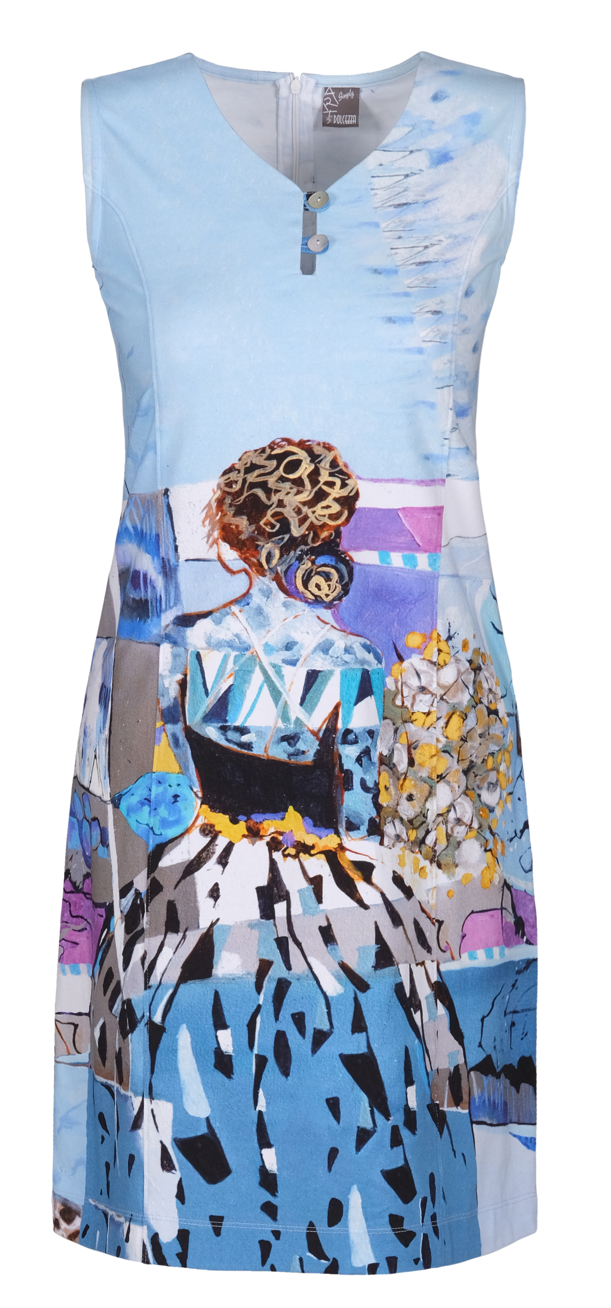 Simply Art Dolcezza: Princess Danae Abstract Art Flared Dress (1 Left!) DOLCEZZA_SIMPLYART_21744