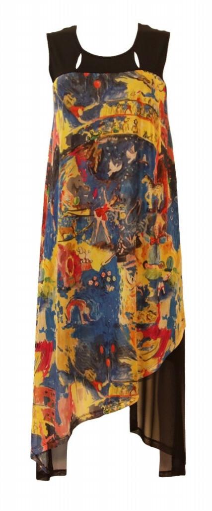 Maloka: Circus Fantasy High Low Abstract Art Beach Dress (More Colors!)