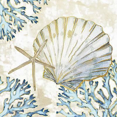 Simply Art Dolcezza: Playa Shells Abstract art Asymmetrical Tunic (1 Left!)
