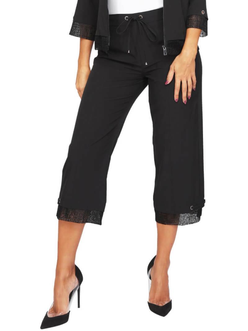 S'Quise Paris: Flirty Wide Leg Cropped Pant SQ_2625