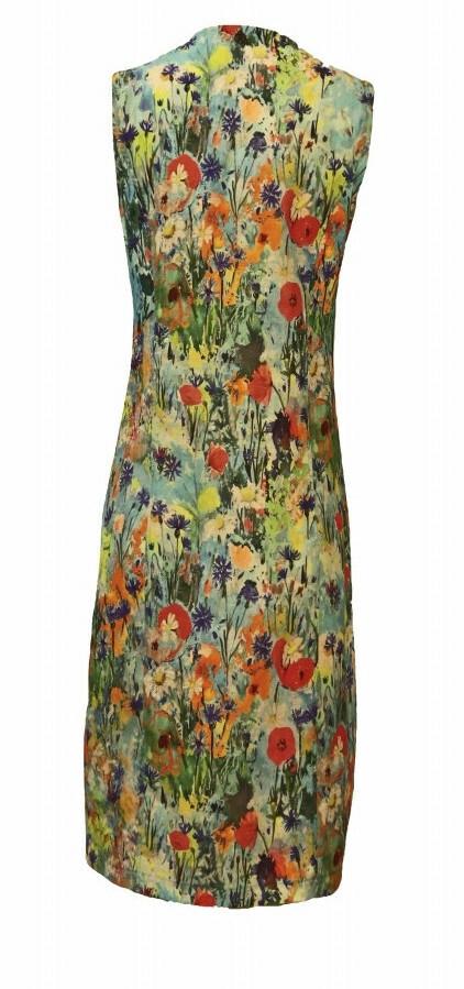 Maloka: Beauty Blooms Zip Decolletage Linen/Cotton Art Dress (Few Left!)