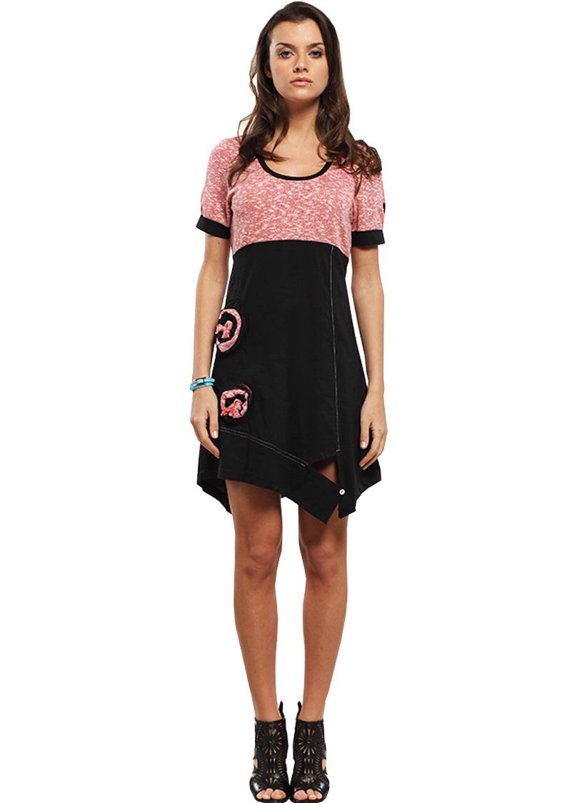 Double Jeu Paris: Desirable Rose Petal Dress/Tunic DJ_ROBE_RIA_ROSE
