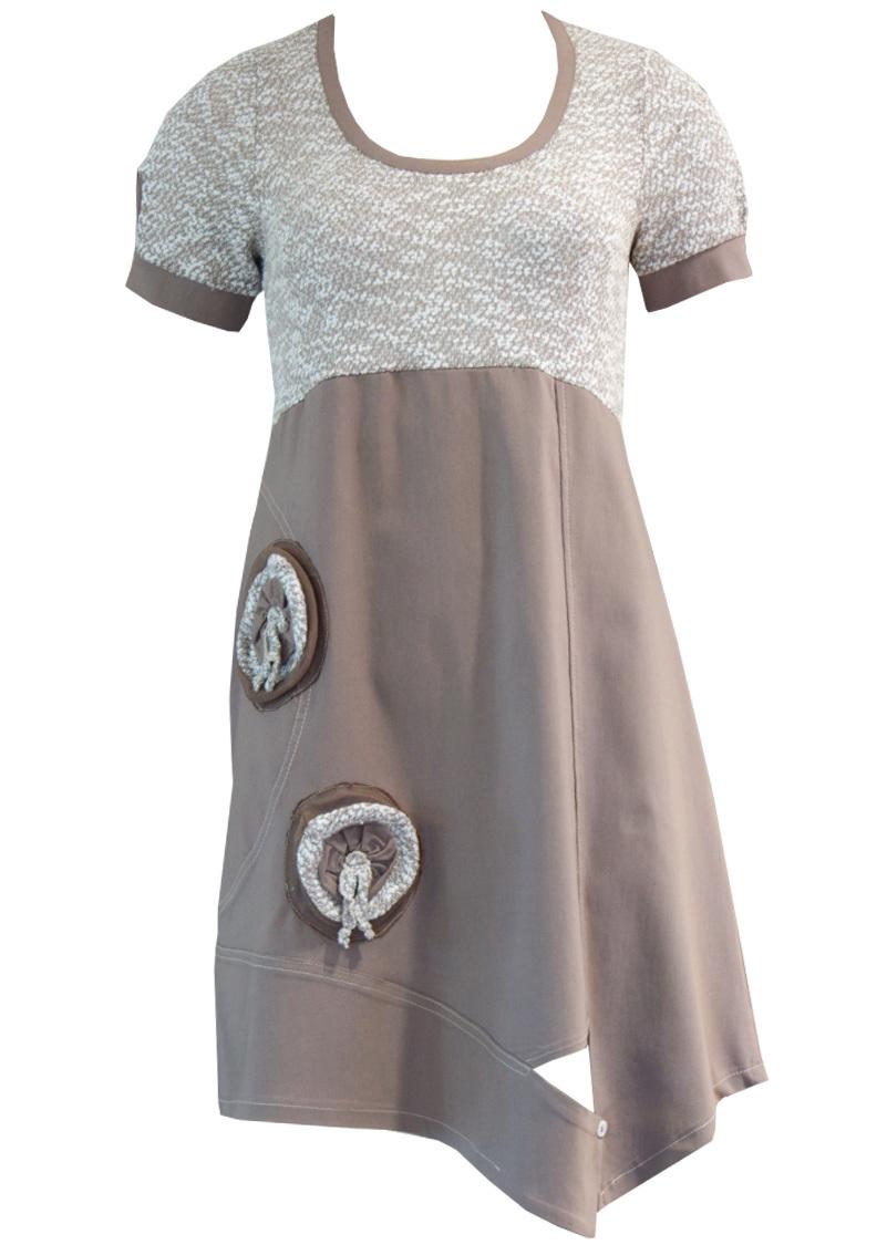 Double Jeu Paris: Desirable Pistachio Souffle Dress/Tunic (In 2 colors) DJ_ROBE_RIA_SABLE
