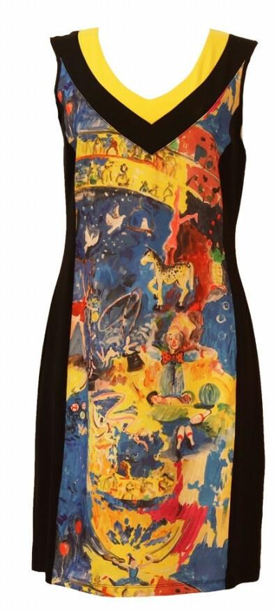 Maloka: Circus Fantasy Abstract Art Colorblock Dress