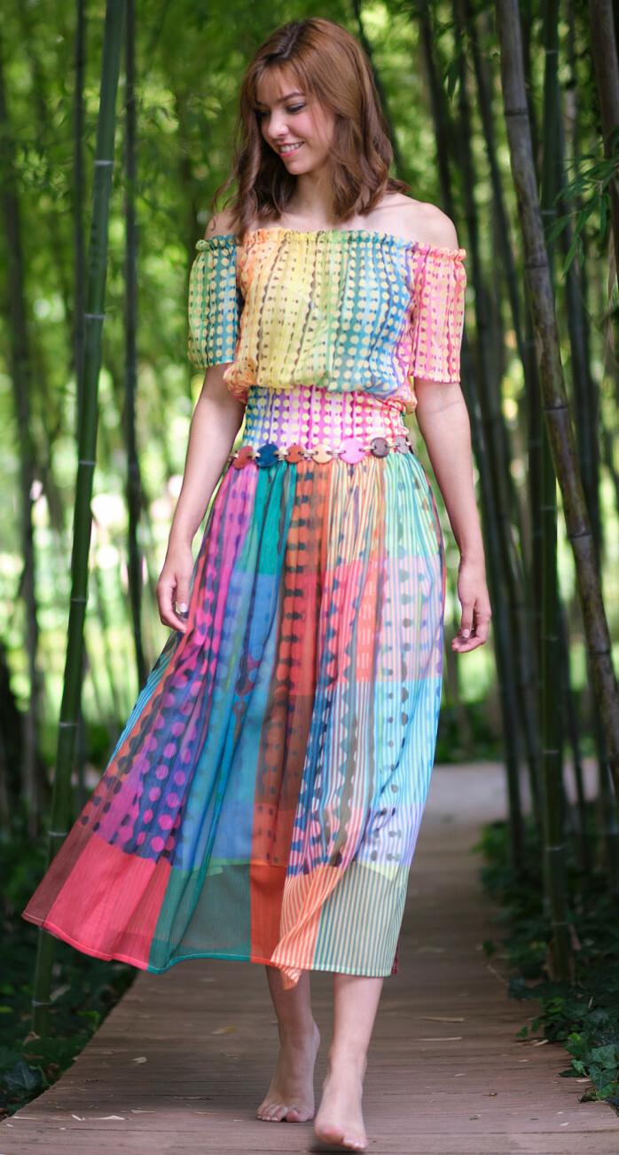 Paul Brial: Iridescent Waves Maxi Dress PB_ROME