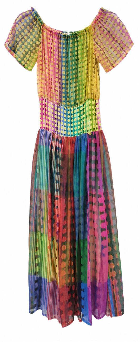 Paul Brial: Iridescent Waves Maxi Dress