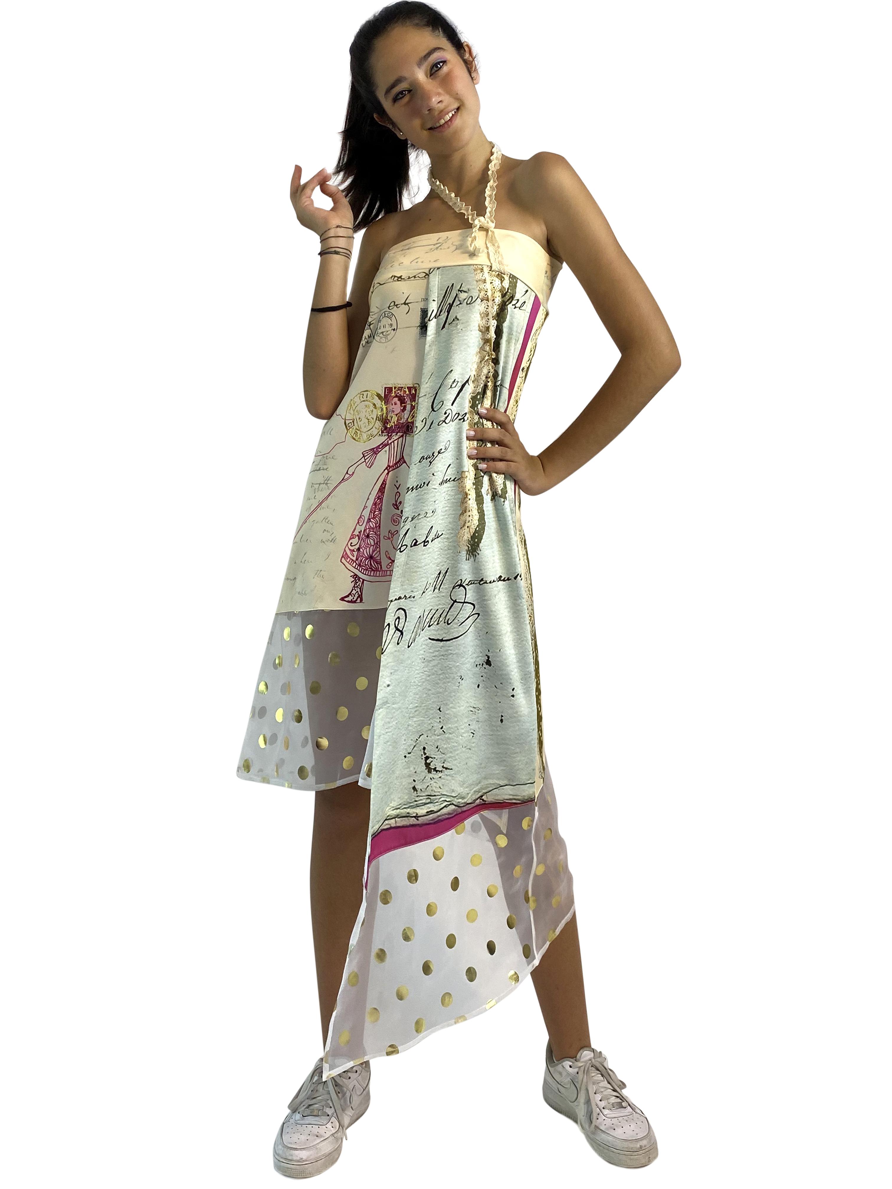 IPNG: If I Was Dancing In Paris Layered Tied Skirt/Dress IPNG_IIFSLT-005