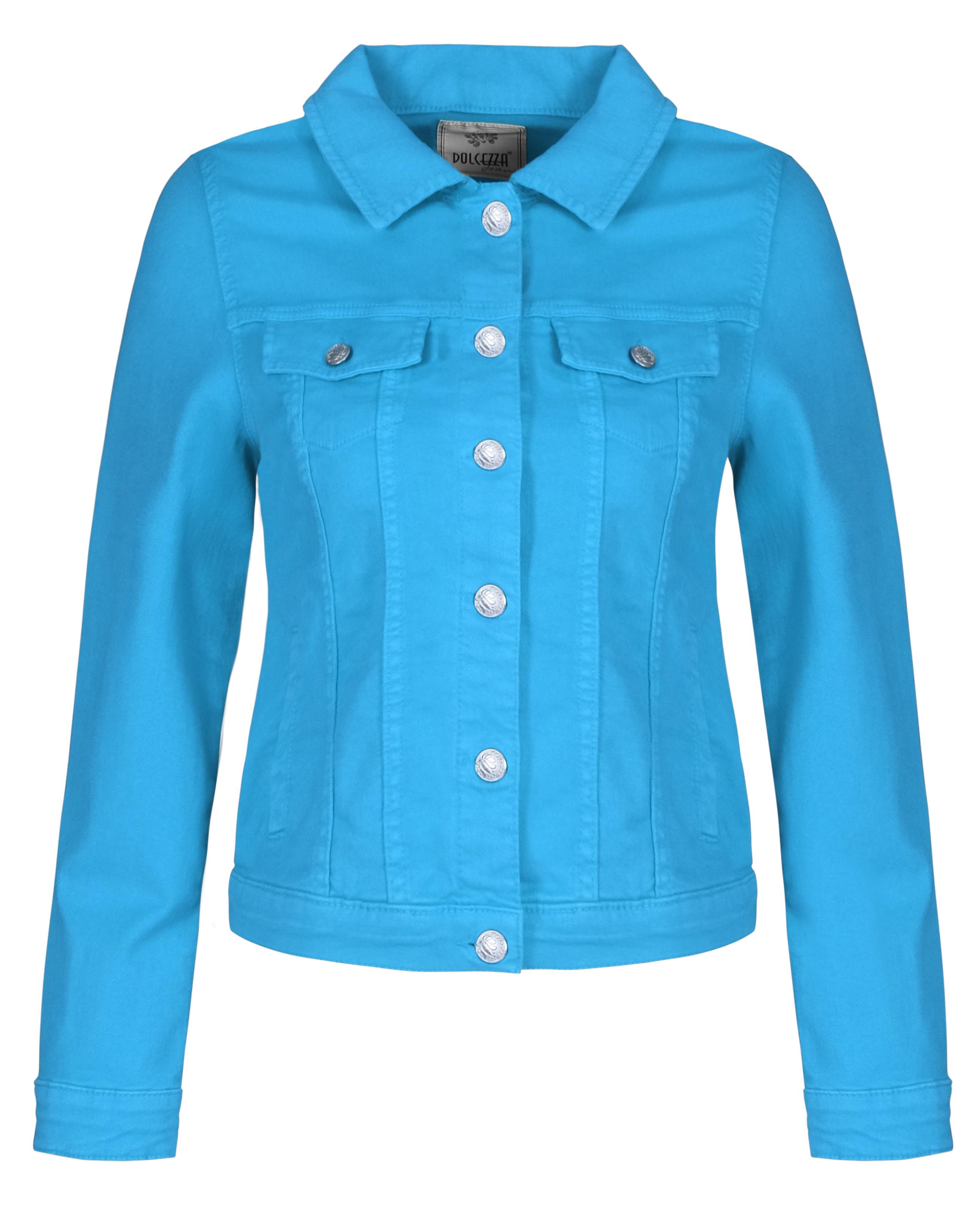 Dolcezza: Relax Me Turquoise Sea Soft Denim Jacket (1 Left!) Dolcezza_21200
