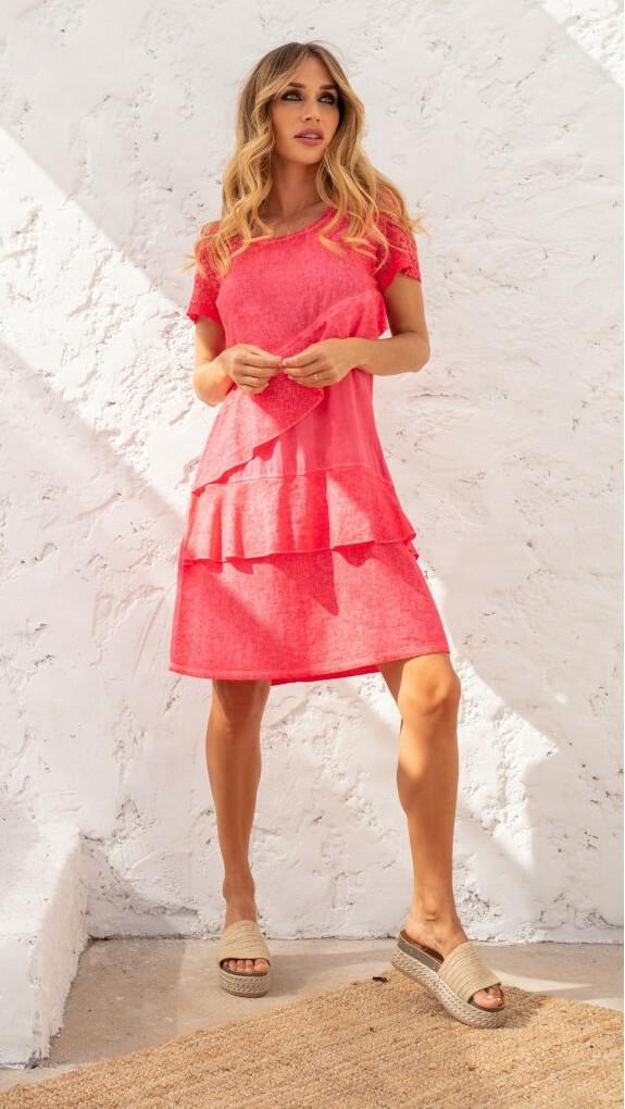 Maloka: Flirty Ruffles Linen Dress (More Colors!) MK_TOUCAN
