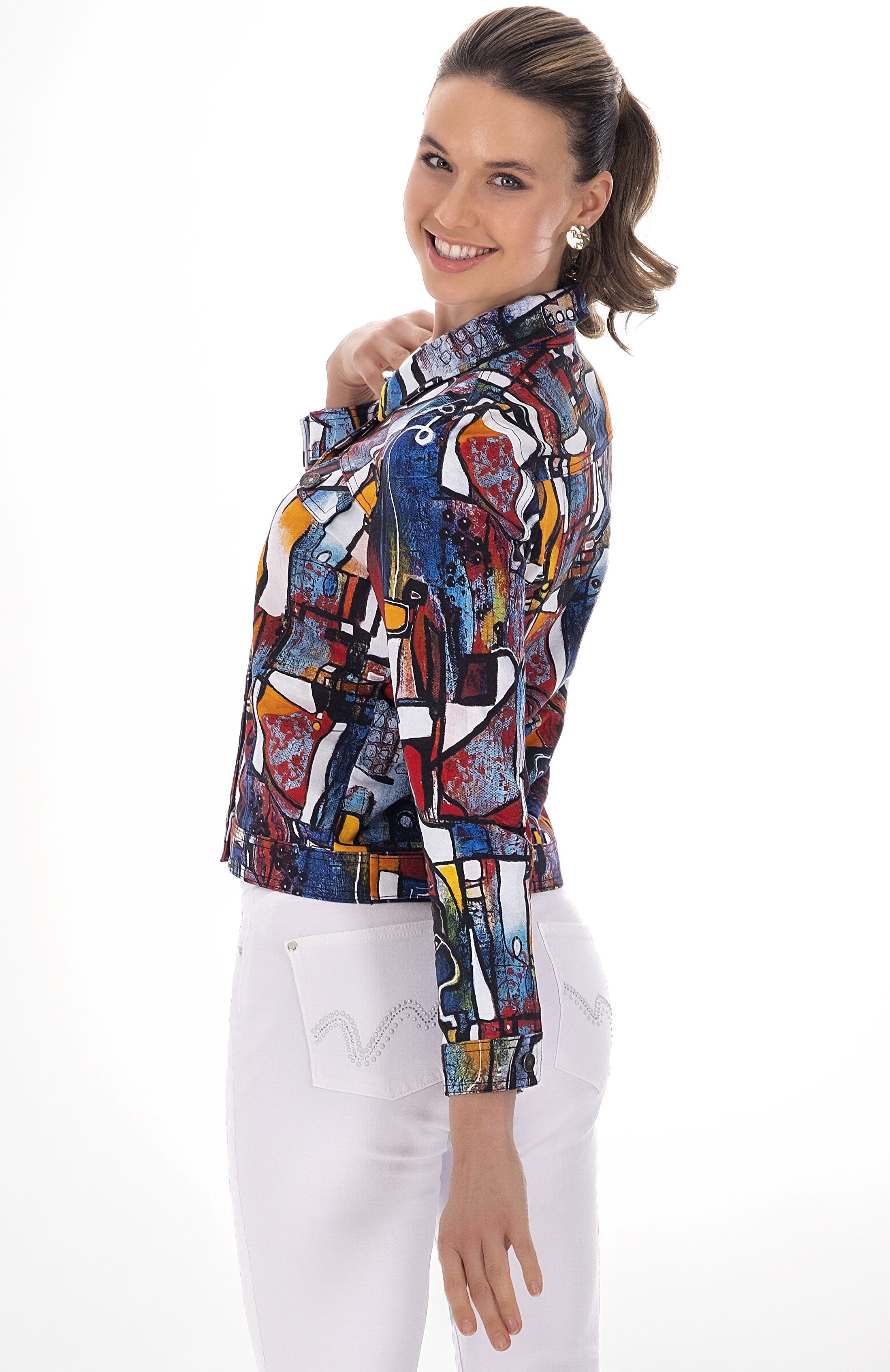 Simply Art Dolcezza: It's Complicated Crazy Cool Abstract Art Soft Denim Jacket
