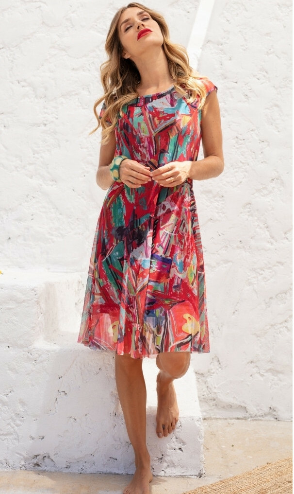 Maloka: Shimmering Colors Of MontMartre Fit & Flare Dress (More Colors!) MK_NAOISE