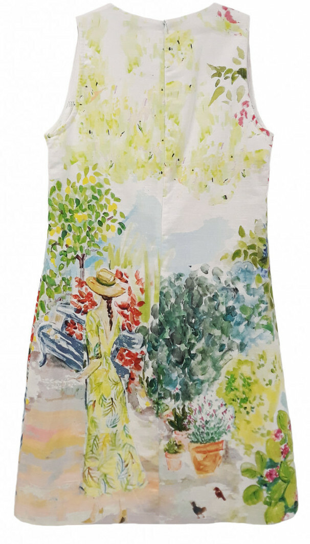 Paul Brial: Spring Is In The Air Flared Art Dress (3 Left!)